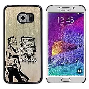 Stuss Case / Funda Carcasa protectora - Occupy Freedom Stencil Graffiti Protest - Samsung Galaxy S6 EDGE SM-G925