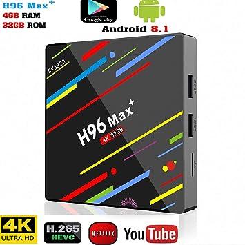 JAYE TV Box Android 8.1, decodificador, Smart Media Player HD Reproductor de Red 4GB 32GB \ 64GB Control Remoto Smart WiFi TV Box Tablet Media Player,32G: Amazon.es: Electrónica