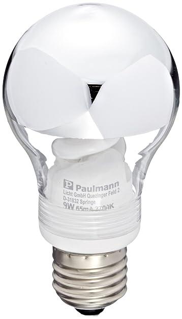 Paulmann - 88079 - Ampoule ESL - 9 W E27 - Calotte argentée ...
