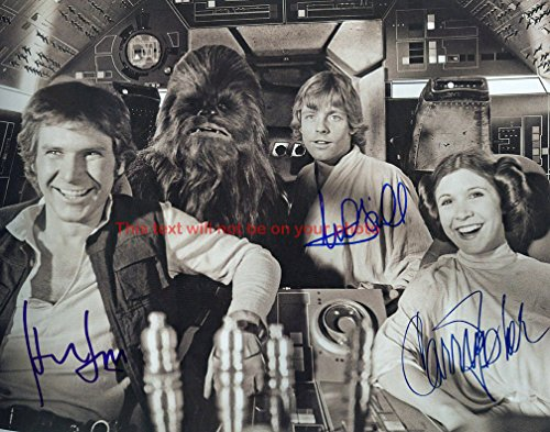 Carrie Fisher Autographed 11x14 Poster Photo from Celebrity Graphs