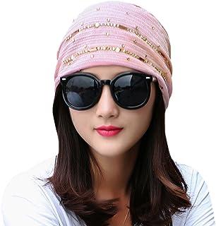 Genda 2Archer Rhinestones Beanie Caps - Women Fashion Slouchy Skull Hat Headwear
