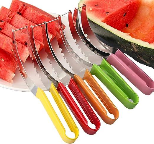 Rostfreier Melonenschneider Fur Wassermelonen Und Andere Fruchte Gruner Griff