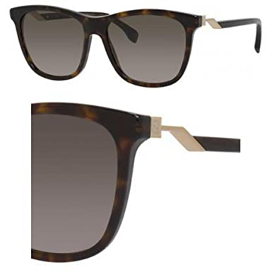 FENDI Fendi Damen Sonnenbrille » FF 0200/S«, braun, 086/HA - braun/braun