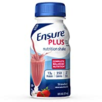 Ensure Plus Nutrition Shake with 13 grams of high-quality protein, Meal Replacement...