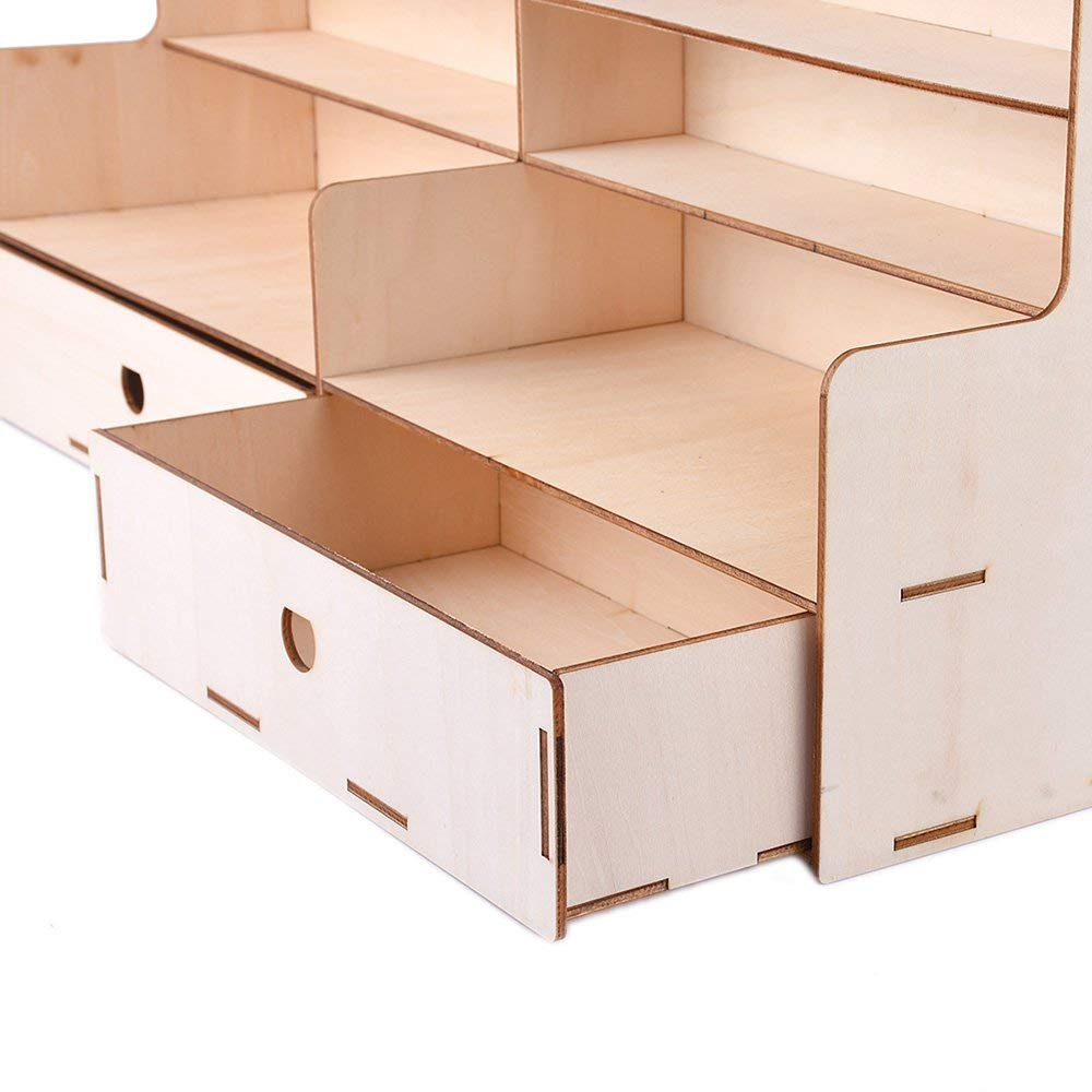 RoadRoma 112 Bottiglie di Vernice di Legno Storage Rack Paint Box Organizer Storage Tools