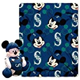 MLB Seattle Mariners Pitch Crazy Co-Branded Disney's Mickey Hugger and Fleece Throw Set