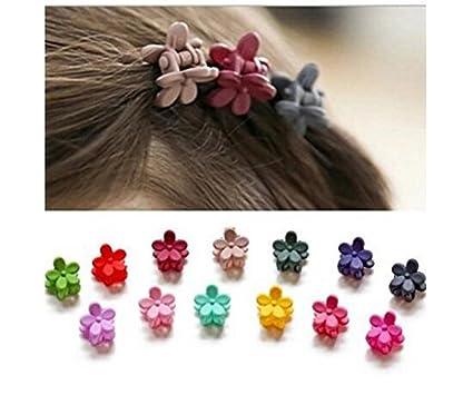 12699c1a1 20 pinzas para el pelo para niñas con diseño de flores, pinzas para el pelo