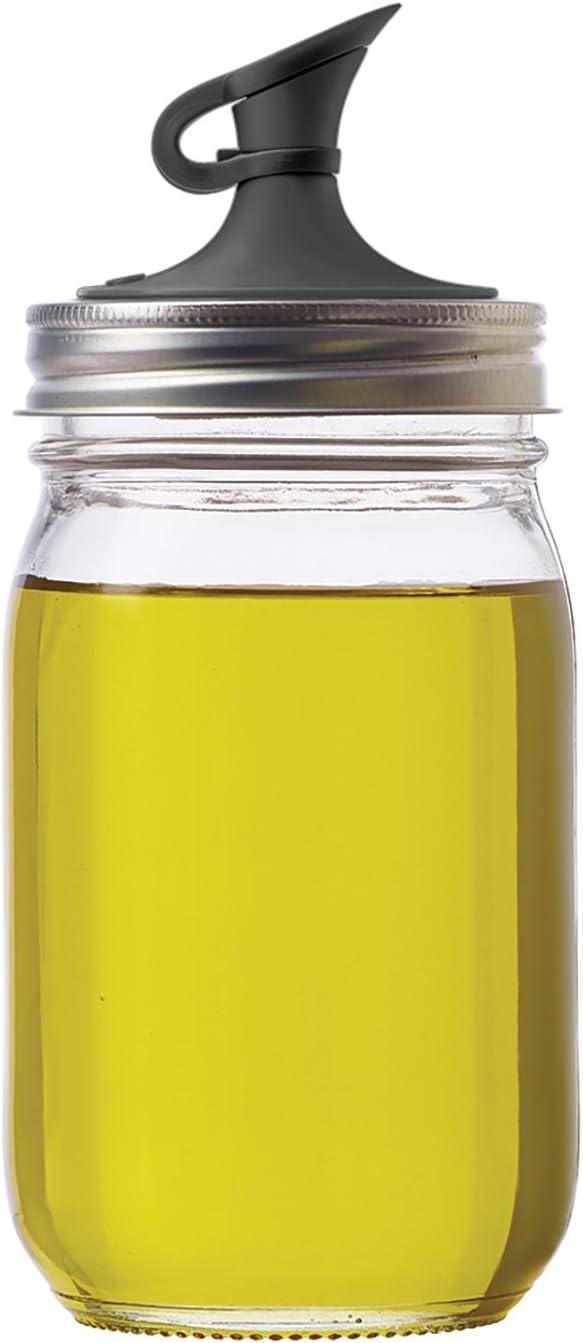 Jarware Plastic Regular Mouth Jars, Black Oil Cruet