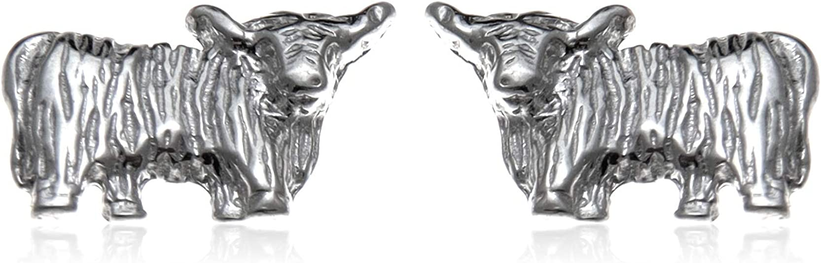 Cow cufflinks White bull Scottish cow,cow Silver Highland Cow cufflinks: Unique Scottish jewellery gift for men white cow Highland cow