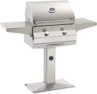 product image for Fire Magic Aurora Series 24-Inch Grill On Bolt Down Post (A430s-5LAP-P6), One Infrared Burner, Analog Thermometer, Propane