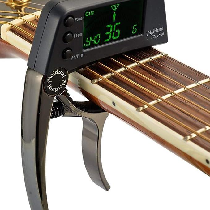 XuBa Cejilla de Guitarra acústica de Cambio rápido, afinador de cejilla para Guitarras eléctricas, Bajos, ukeleles: Amazon.es: Hogar