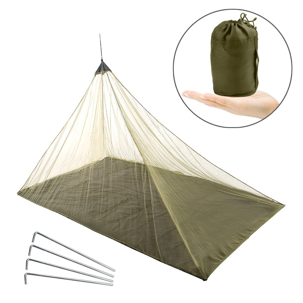 Vidillo Mosquito Net Outdoor Camping mosquitera Cama, Hamaca mosquitera Error mosquitera Negro para Viajes, mosquitera para Patio, Camping, Viajes (Negro): ...