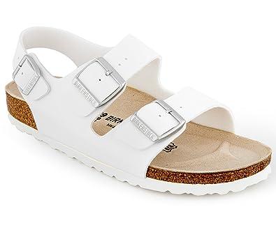 0aec1364f4a4 Birkenstock Milano Birko Flor Sandal White  Amazon.com.au  Fashion