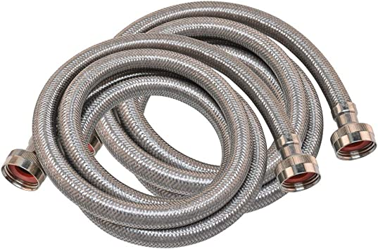 Amazon Com Eastman 41067 Stainless Steel Braided Washing Machine Hoses 6 Ft Length Home Improvement