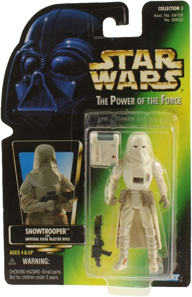 Star Wars, The Power of the Force Green Card, Snowtrooper Action Figure, 3.75 Inches
