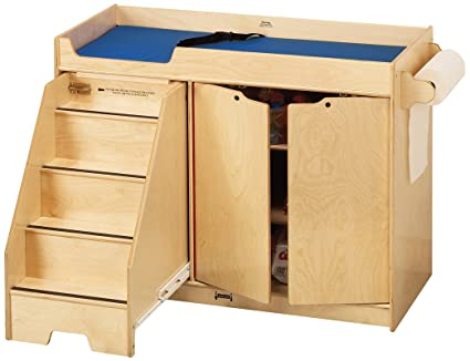 ab574abf8231 Amazon.com: Jonti-Craft 5131JC Changing Table with Stairs, Left ...