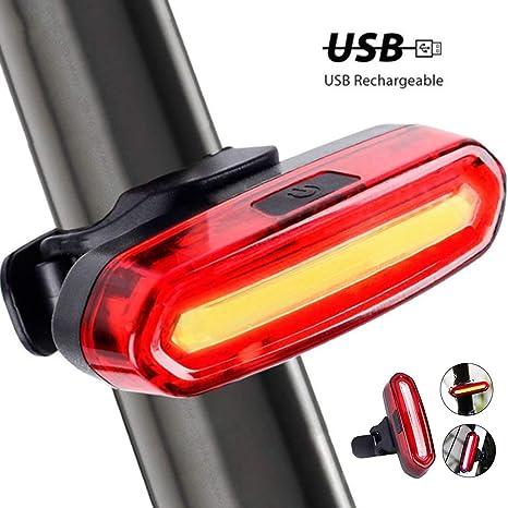 Lomire USB Recargable Bicicleta Luz Trasera,LED Faro Trasero Bici 6 Modos Luz Cola Flash LED Lámpara Luz Alerta Impermeable,240°Faro Trasero Bici Motos para Máxima Seguridad de Ciclismo: Amazon.es: Deportes y aire libre