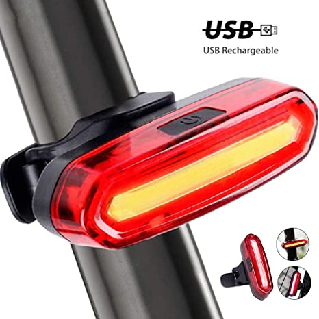 Lomire USB Recargable Bicicleta Luz Trasera,LED Faro Trasero Bici ...