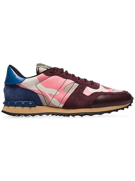 Valentino Hombre RY2S0723TCCGI8 Rosa Cuero Zapatillas: Amazon.es: Zapatos y complementos