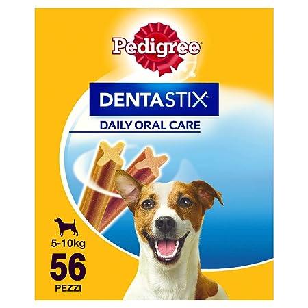 Pedigree Hundesnacks Hundeleckerli Dentastix Mini Tägliche Zahnpflege für kleine Hunde <10kg, 56 Stück (880g)