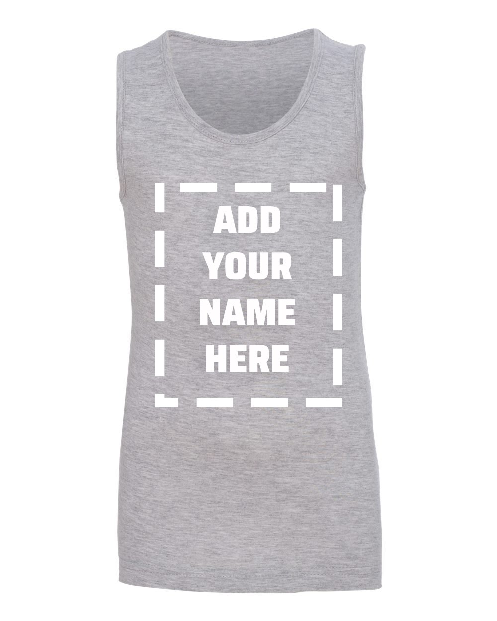 Marky G Apparel Personalize Add Your Own Name Fine Jersey Tank