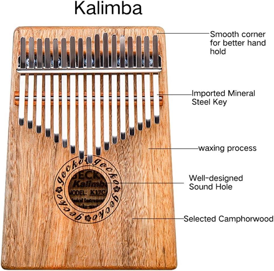 MG.QING Kalimba 17 Key Camphor Wood B-Tone Electronic Thumb Piano Mbira Kalimba Musical Instrument