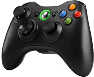 Zexrow Xbox 360 Mando de Gamepad , mando de juego inalámbrico con un diseño ergonómico mejorado Joypad, Gamepad Wireless para PC/Xbox 360 (Windows XP/7/8/10)