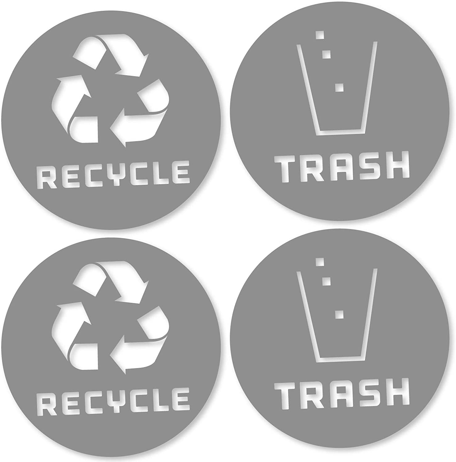 6 Pack (4in x 4in) Recycle Logo and Trash can Sticker to Organize Your Trash - for Trash cans, Garbage containers and Recycle Bins - Premium Vinyl Decal (4in x 4in, Compost 6pk): Home Improvement