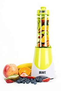 BRAVIT Personal Sports Blender Smoothie Maker and Shake Maker with Travel Lid