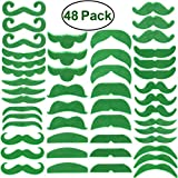 Green Mustache Beard St. Patrick's Day...