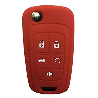 Rpkey Silicone Keyless Entry Remote Control Key Fob Cover Case protector For Buick Encore LaCrosse Regal Verano(gules)OHT01060512 5461A-01060512: Automotive