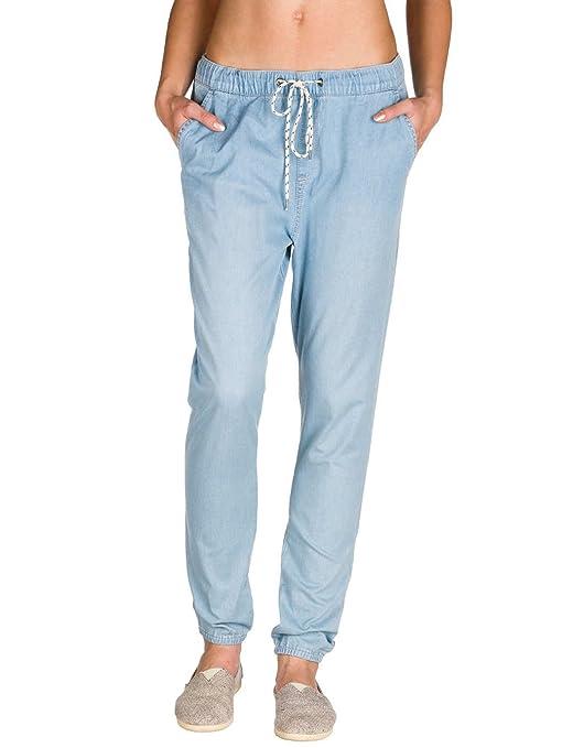 Roxy - Pantalón De Chandal Vaquero - Mujer - XS - Azul: Amazon.es ...