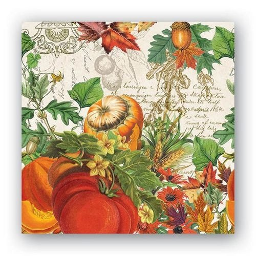 Michel Design Works Autumn Harvest Cocktail Paper Napkins