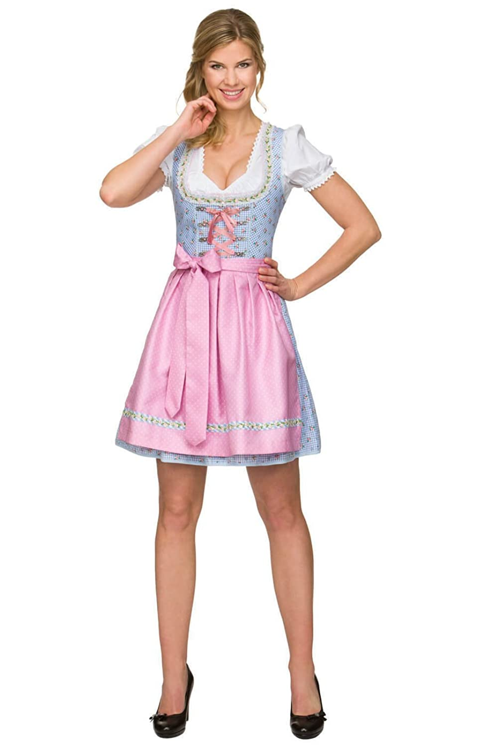 mini dirndl 2 tlg fantastisches minidirndl von stockerpoint mit sch rze grundmuster kariert. Black Bedroom Furniture Sets. Home Design Ideas