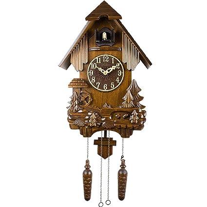 SX-ZZJ @Reloj de Pared Reloj de Cuco Péndulo Cuarzo Reloj de Pared Sin