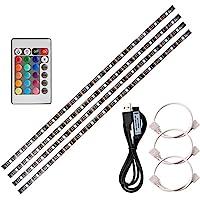 Lixada 4 x 50 cm USB LED Strip Lights Kit Flexibele Strip Lights met Mini Afstandsbediening Home LED Tape Strip voor TV…