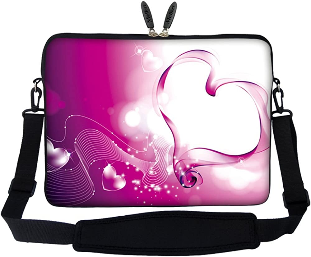 Meffort Inc 13 13.3 Inch Neoprene Laptop Sleeve Bag W.Hidden Handle & Strap