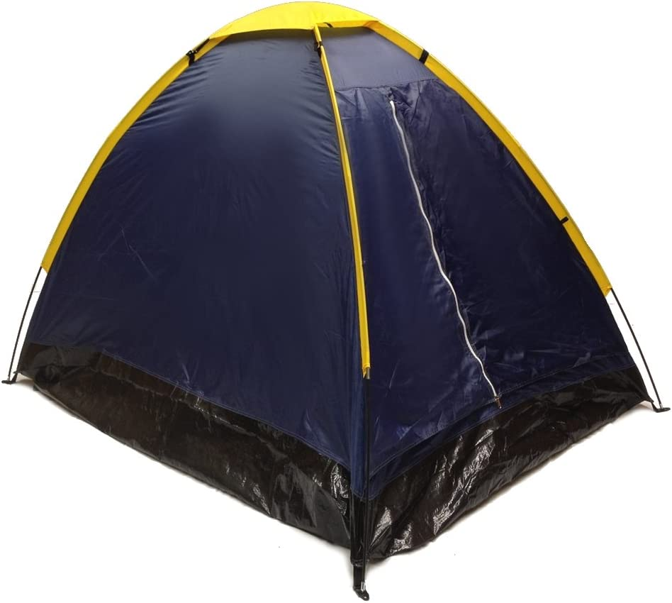 2 Person Dome Camping Tent 7x5/' with Sealed Bottom Orange