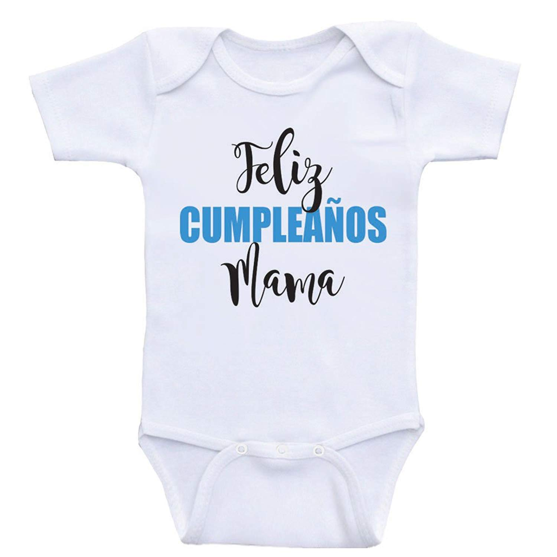 Amazon.com: Promini Cute Baby Onesie - Feliz Cumpleanos Mama ...