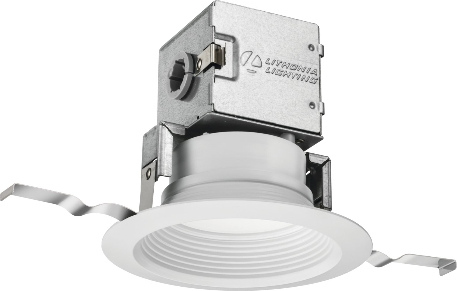 Lithonia Lighting 4JBK RD 30K 90CRI MW M6 3000K 90 CRI 4'' Baffle Canless Kit, 4-inch, Matte White