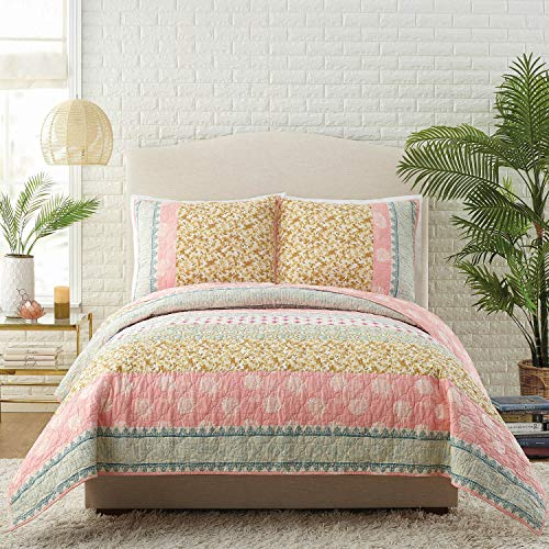 Jessica Simpson Bonita Quilt, Full Queen, - Murano Queen Bed