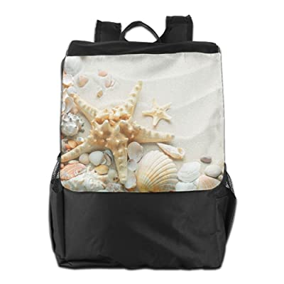 80%OFF Sea Shell On The Beach Outdoor Backpack Rucksack School Bag