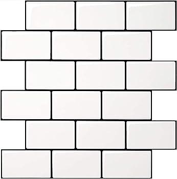 10-Pack Art3d Subway Tile Peel and Stick Backsplash