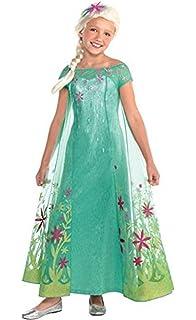 Amazon.com: Elsa Disney Frozen Fever Costume, Medium: Clothing