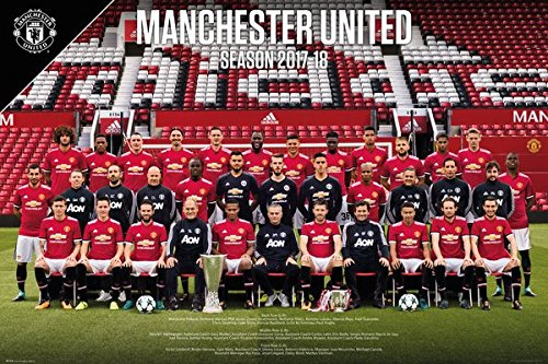 Manchester United - Sports / Soccer Poster / Print (Team Photo - Season 2017 / 2018) (Size: 36
