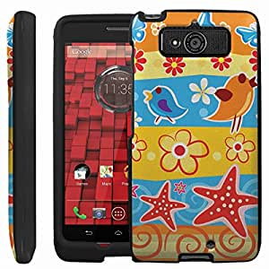 [ManiaGear] Design Graphic Image Shell Cover Hard Case (Butterfly Bird Blast) for Motorola DROID Mini XT1030