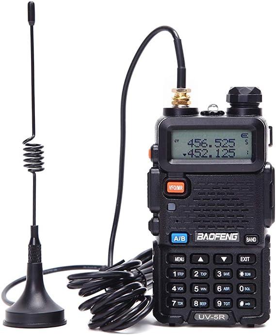 Itlovely Baofeng Antena para radio portátil Mini coche VHF Antena para Quansheng Baofeng 888S UV5R Walkie Talkie UHF Antena