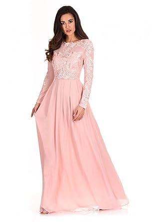 b62f2b31fe AX Paris Women's Lace Insert Maxi Dress at Amazon Women's Clothing ...