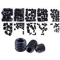 DollaTek 200 stuks M3 M4 M5 M6 M8 knop kop zeskantschroef schroeven moeren assortiment kit met doos, 12,9 graden…