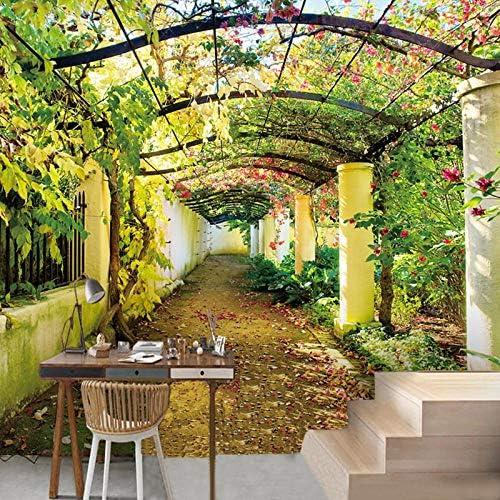 ZJfong Murales 3D Paisaje Jardín Foto Papel tapiz Gran sala de ...
